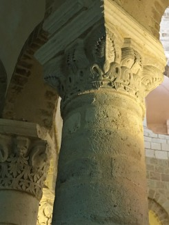 carved column capital