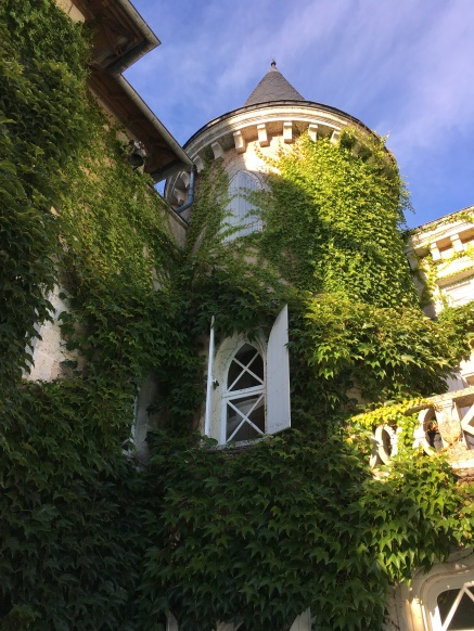 Ivy covered turret, I can go there in my imagination.