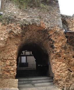 Along the way there is a fragment of Roman Poitiers