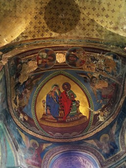 Christ and Mary on the Throne of Wisdom decorates the apse dome