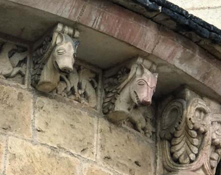 The horse head corbel