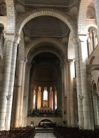 The interior is Romanesque
